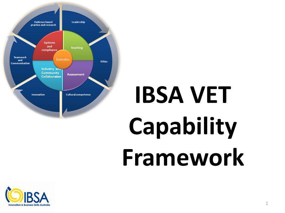 IBSA VET Capability Framework 1
