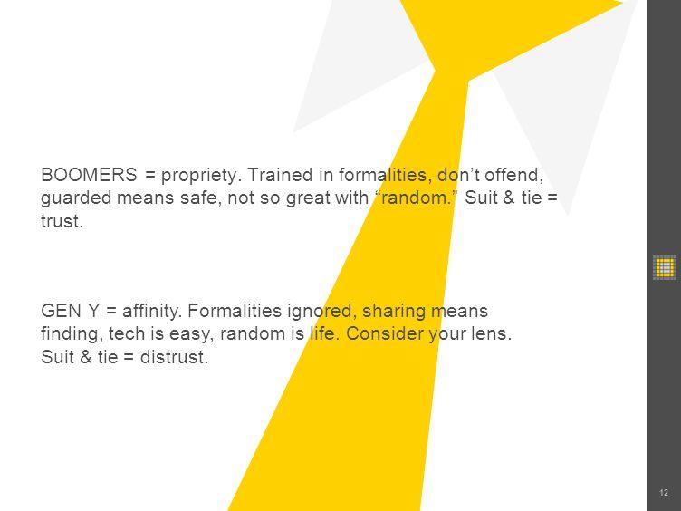 12 BOOMERS = propriety.