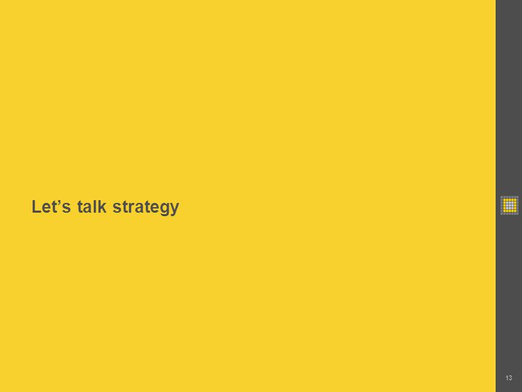 Lets talk strategy 13