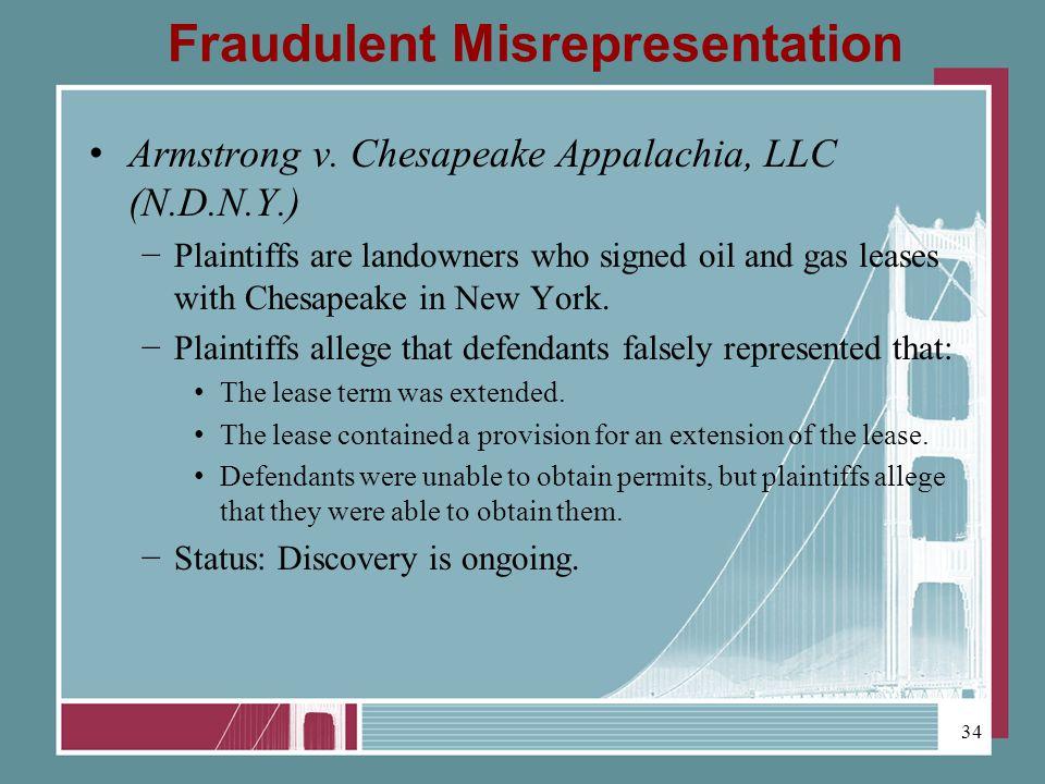 Fraudulent Misrepresentation Armstrong v.