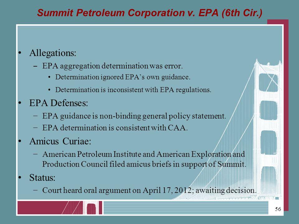 Summit Petroleum Corporation v.