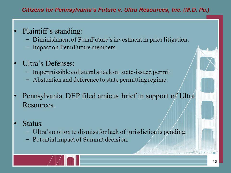 Citizens for Pennsylvanias Future v. Ultra Resources, Inc.