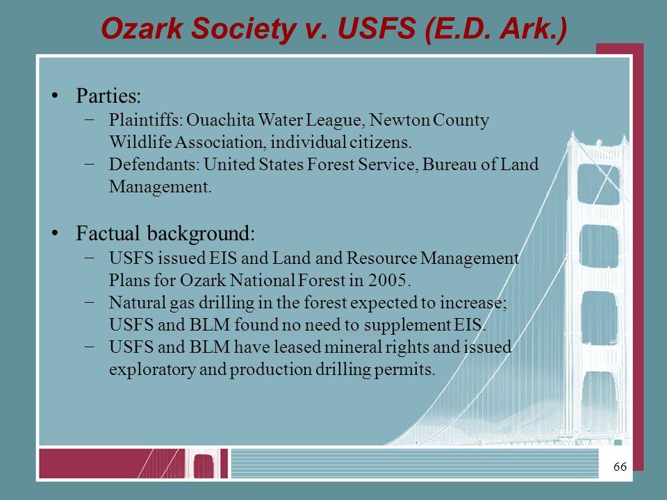 Ozark Society v. USFS (E.D.