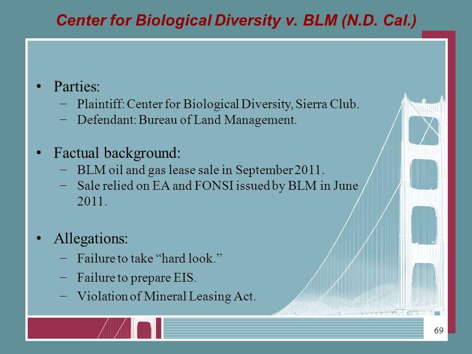 Center for Biological Diversity v. BLM (N.D.