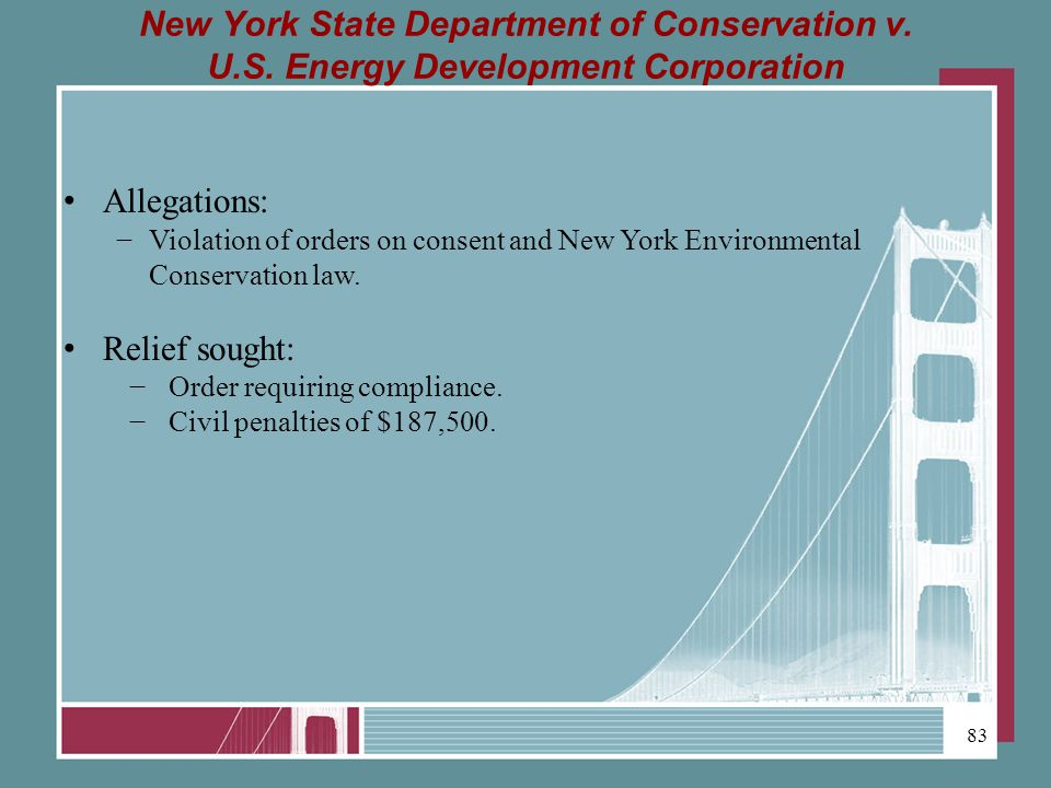 New York State Department of Conservation v.U.S.