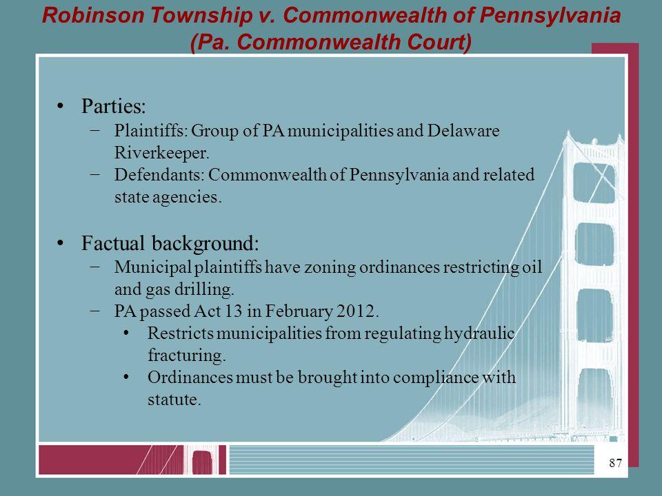 Robinson Township v. Commonwealth of Pennsylvania (Pa.