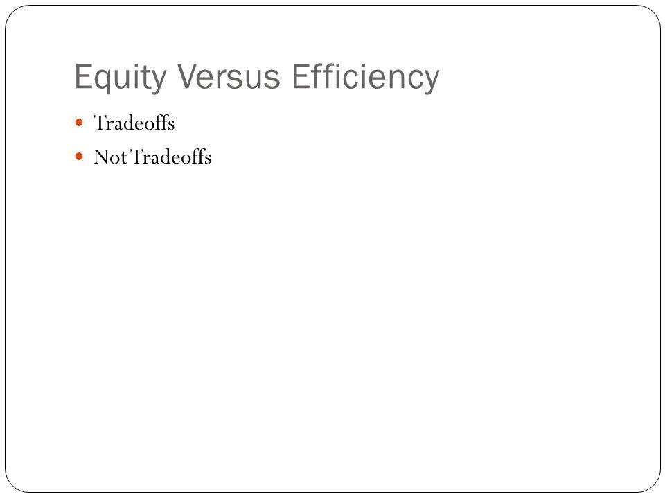 Equity Versus Efficiency Tradeoffs Not Tradeoffs