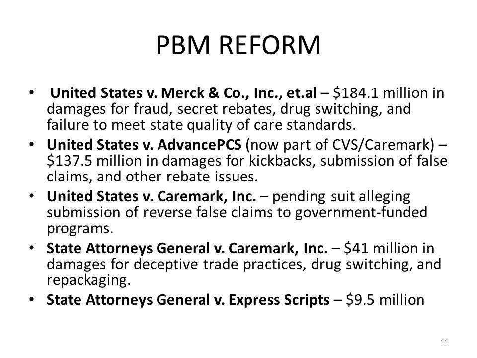 11 PBM REFORM United States v.