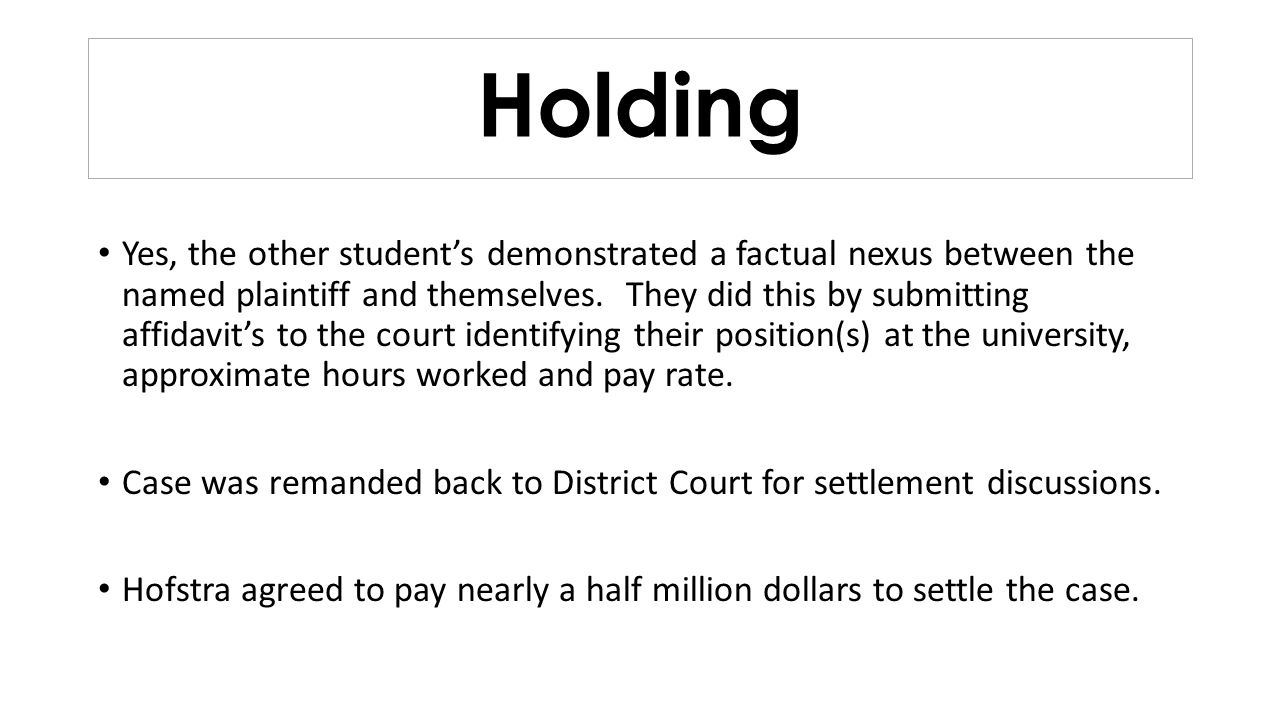Holding Yes, the other students demonstrated a factual nexus between the named plaintiff and themselves. They did this by submitting affidavits to the