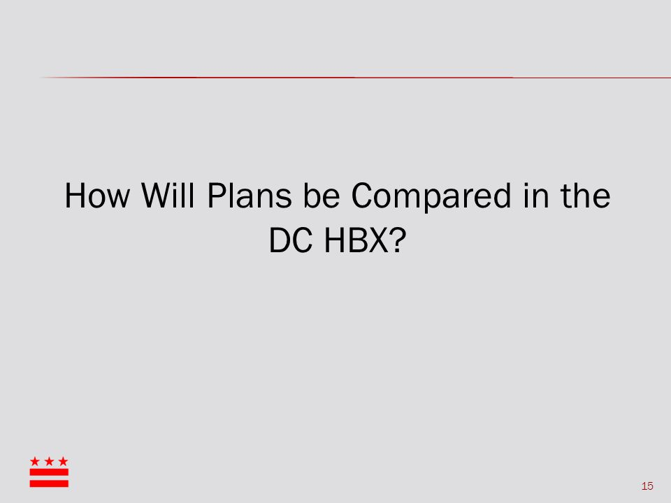 15 How Will Plans be Compared in the DC HBX