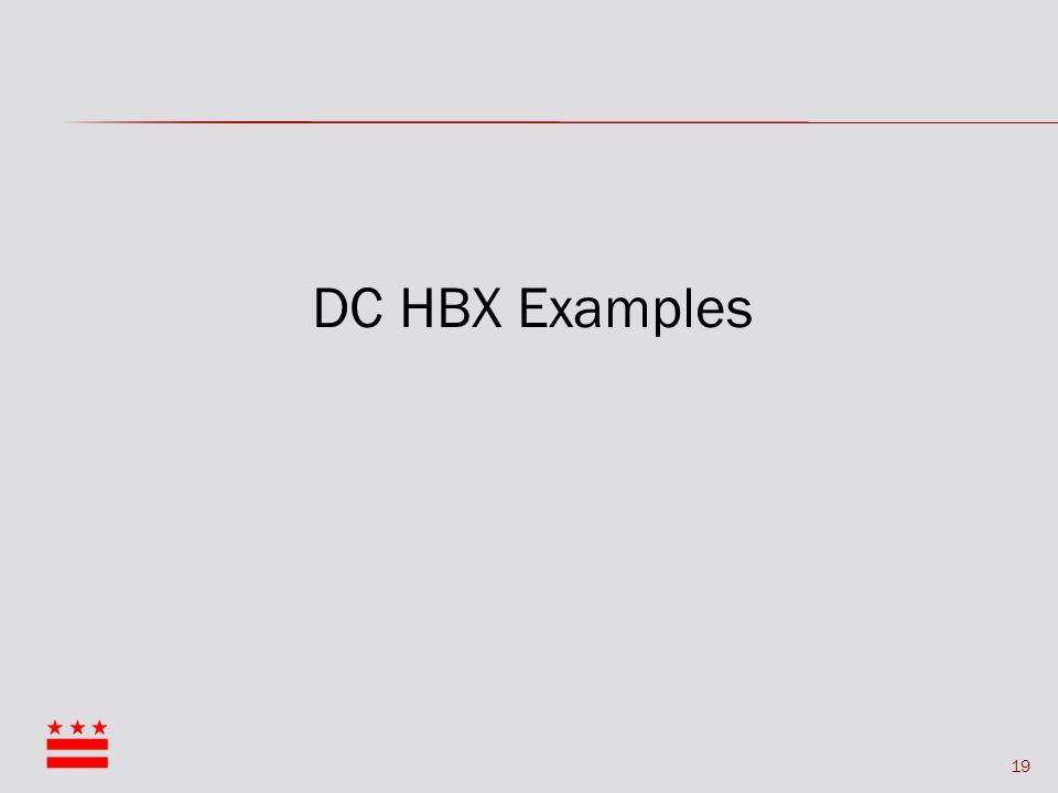 19 DC HBX Examples