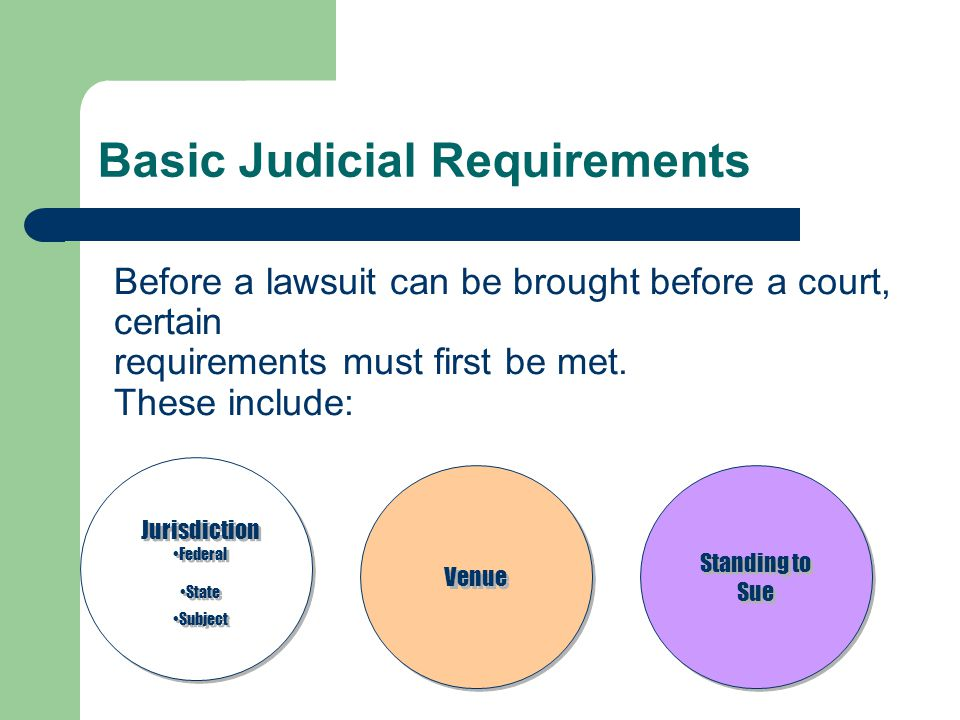 Pretrial Conference Either party or the court can request a pretrial conference to: – Identify the matters in dispute after discovery has taken place, or – To plan the course of the trial