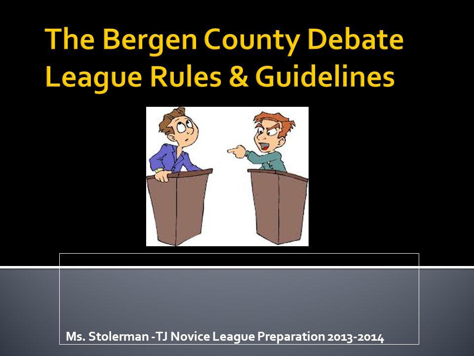 Ms. Stolerman -TJ Novice League Preparation 2013-2014