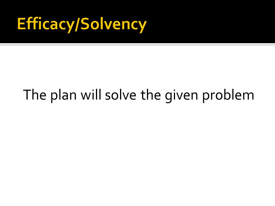 The plan will solve the given problem