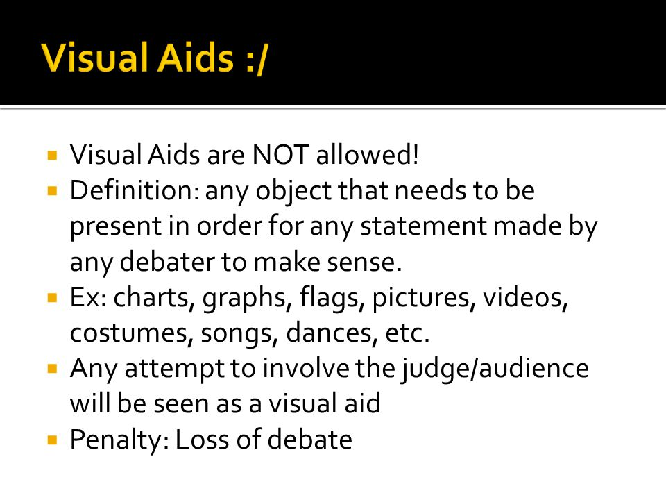 Visual Aids are NOT allowed.