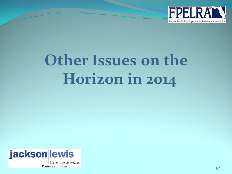 Other Issues on the Horizon in 2014 67
