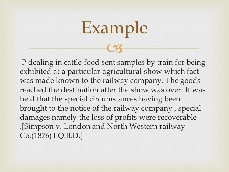 P dealing in cattle food sent samples by train for being exhibited at a particular agricultural show which fact was made known to the railway company.