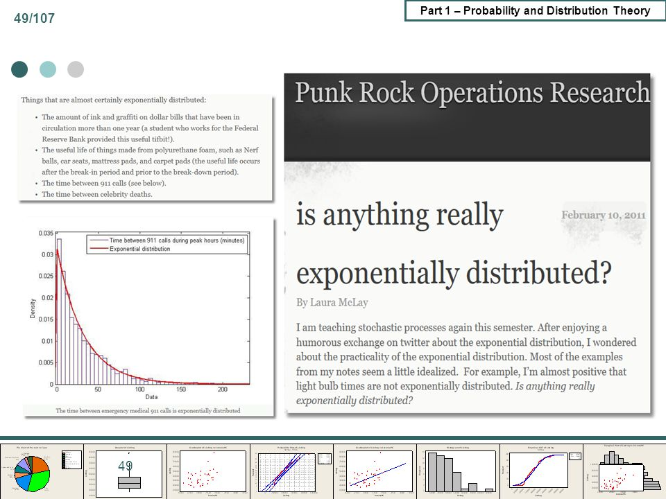 Part 1 – Probability and Distribution Theory 49/107 49