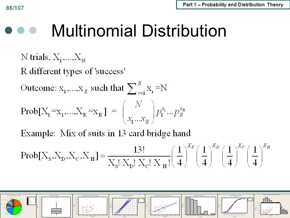 Part 1 – Probability and Distribution Theory 86/107 Multinomial Distribution