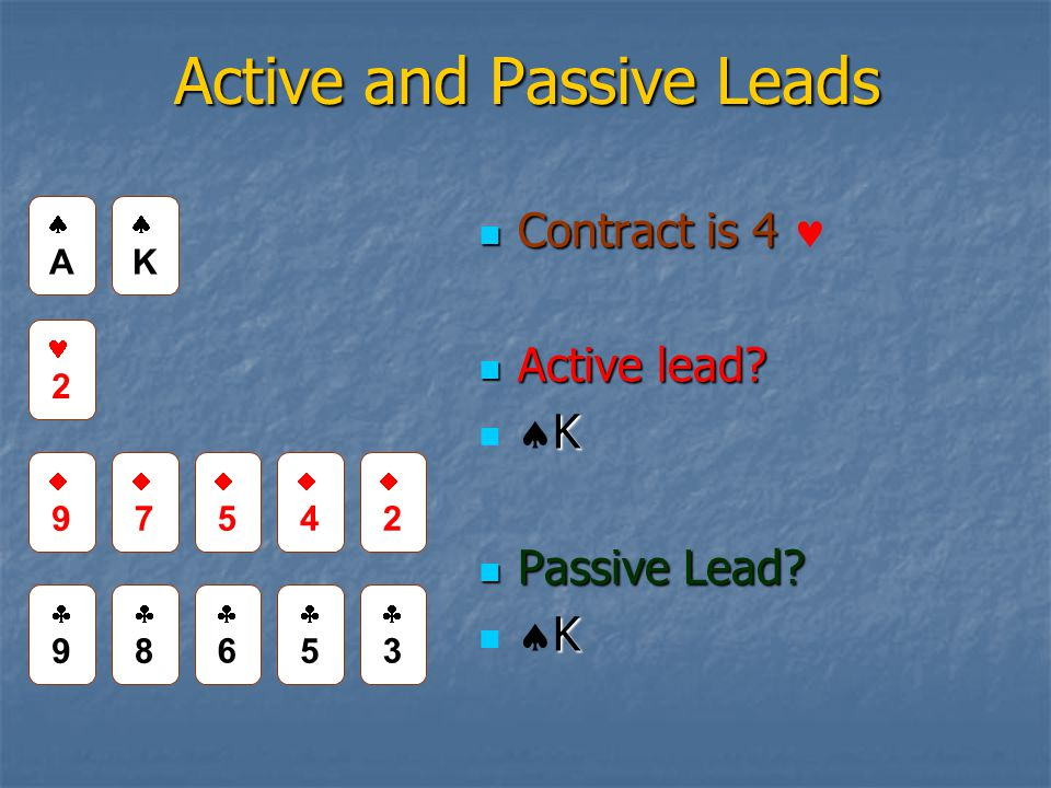 Active and Passive Leads Contract is 4 Contract is 4 Active lead.