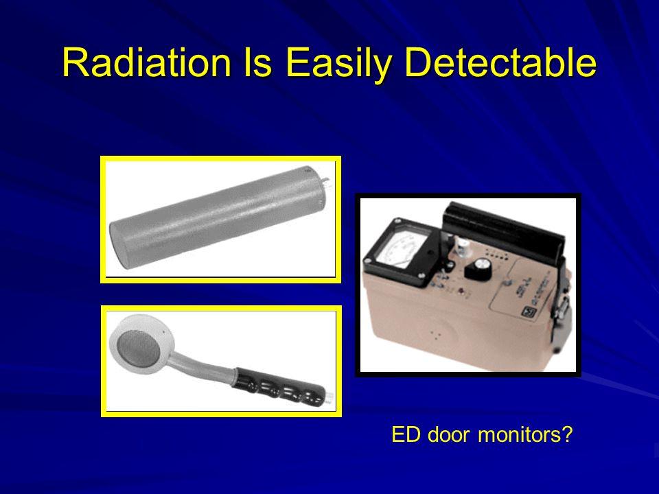 Radiation Is Easily Detectable ED door monitors?