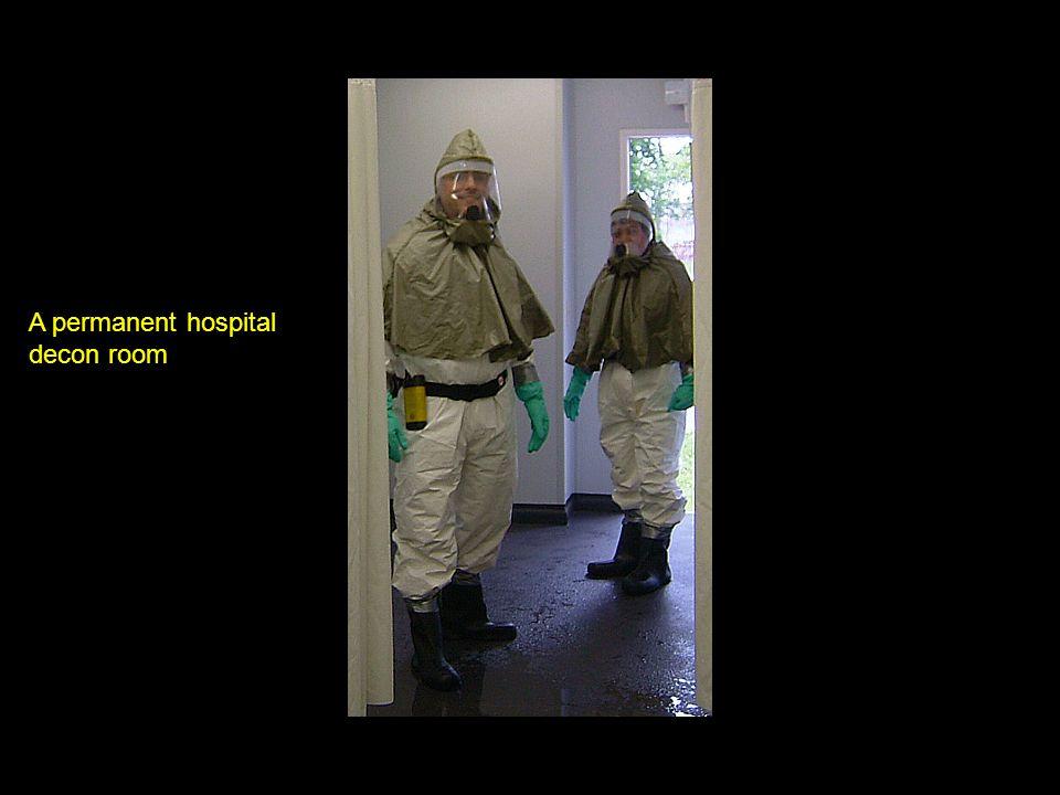A permanent hospital decon room