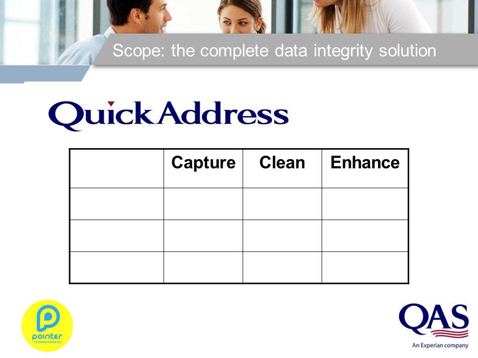 Scope: the complete data integrity solution CaptureCleanEnhance Pro Pro Web Batch
