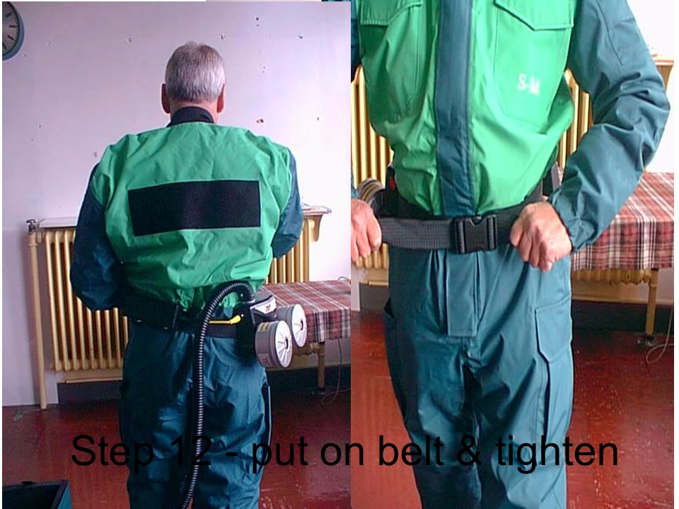 Step 12 - put on belt & tighten