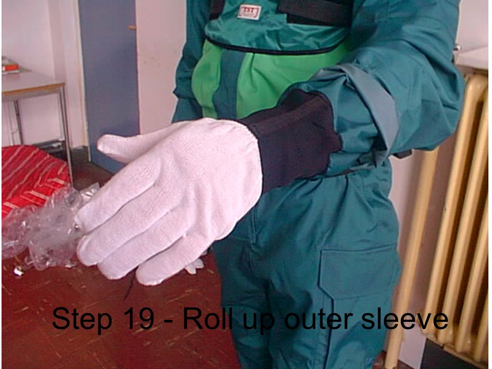 Step 19 - Roll up outer sleeve