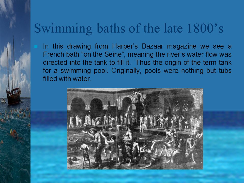 The first great American swimmer Capt.