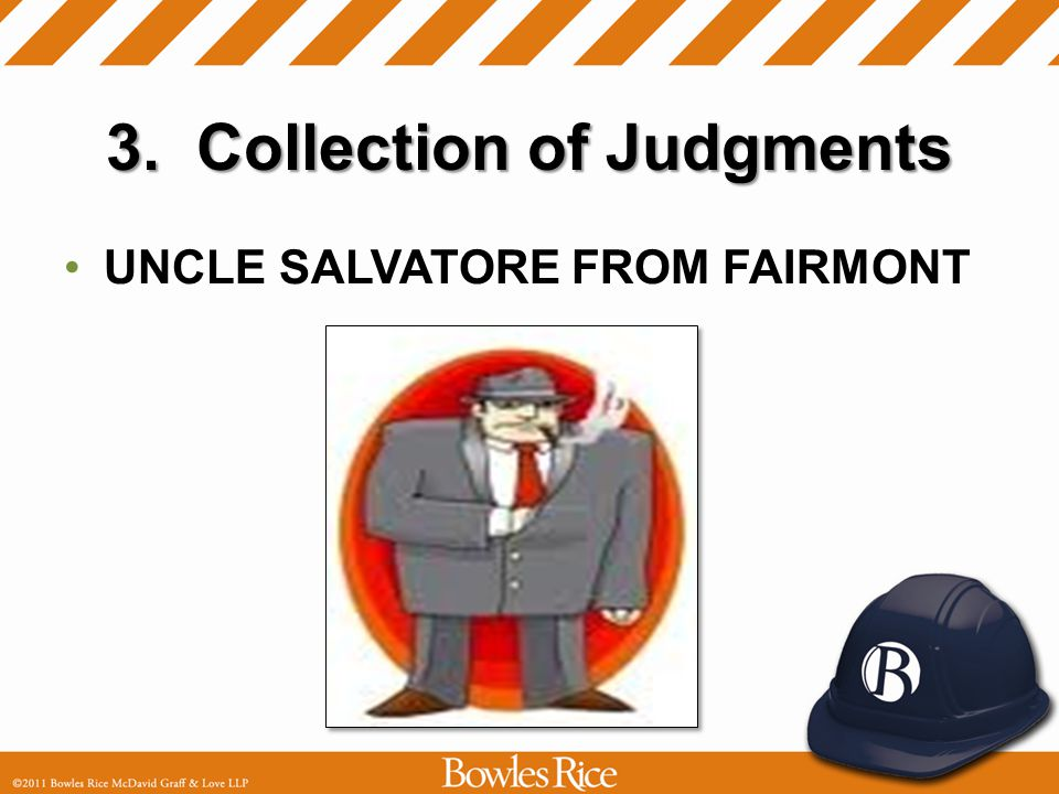 3. Collection of Judgments UNCLE SALVATORE FROM FAIRMONT