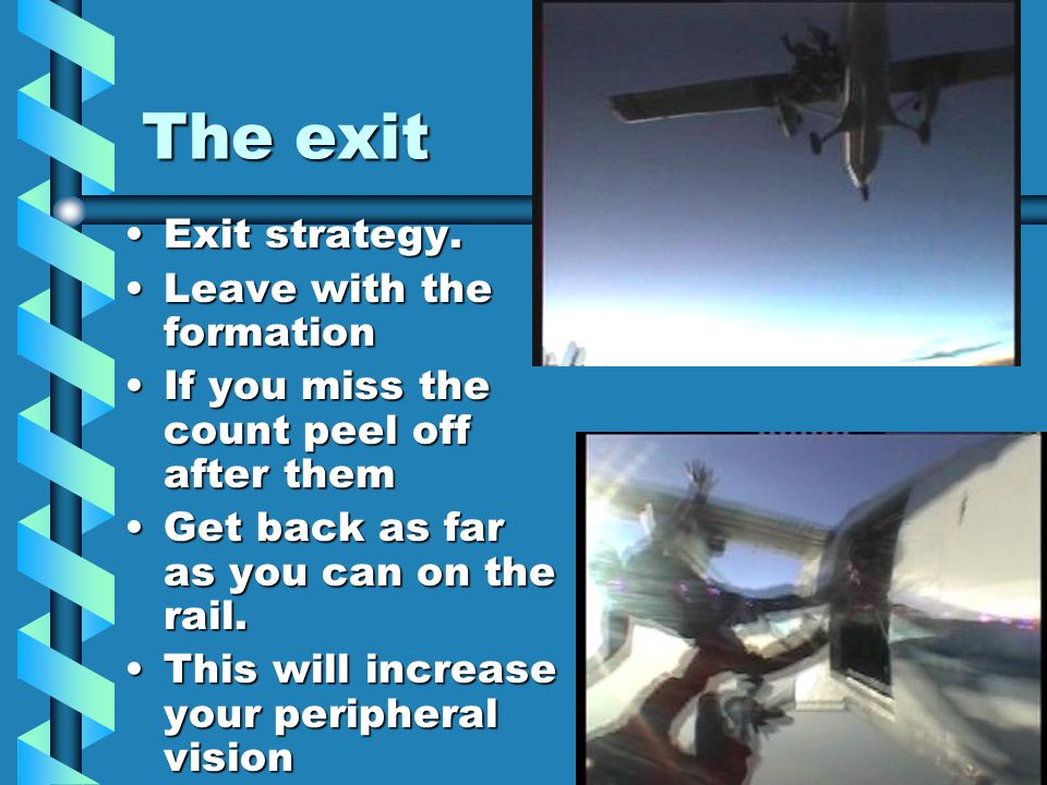 The exit Exit strategy.Exit strategy.