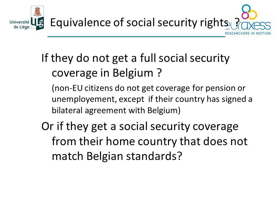 Equivalence of social security rights .