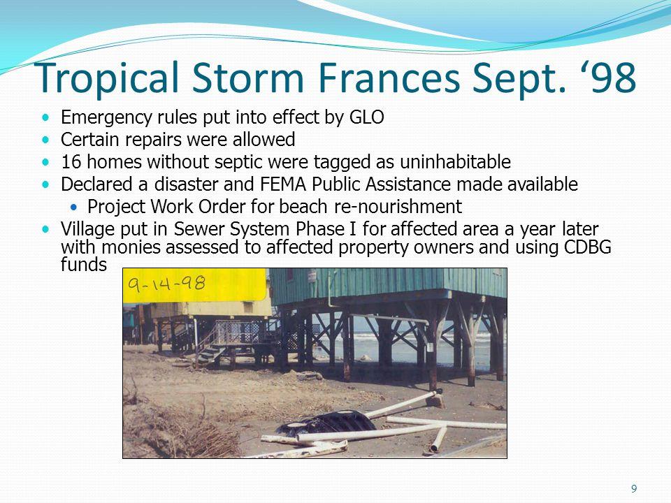 Tropical Storm Frances Sept.