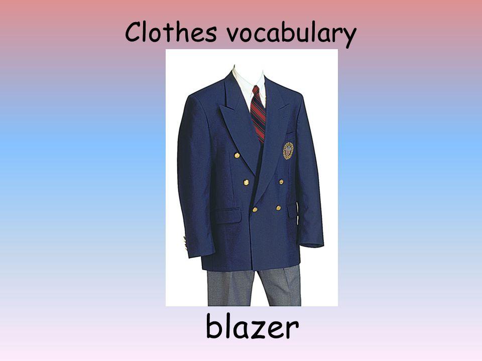 Clothes vocabulary blazer