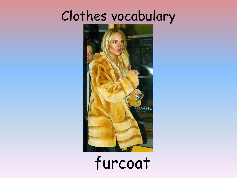Clothes vocabulary furcoat