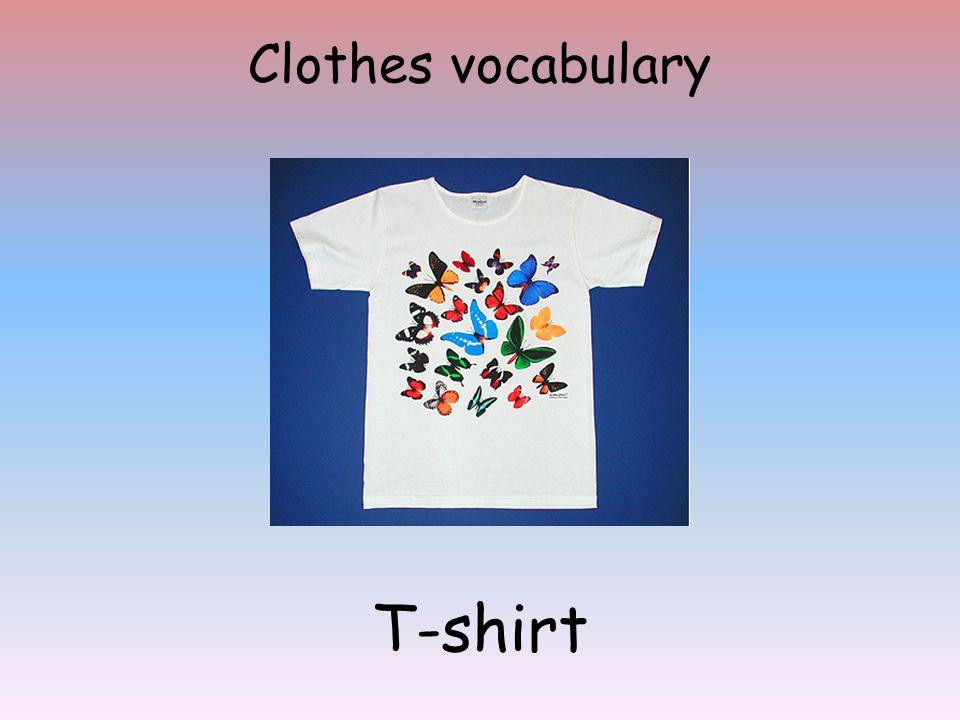 Clothes vocabulary T-shirt