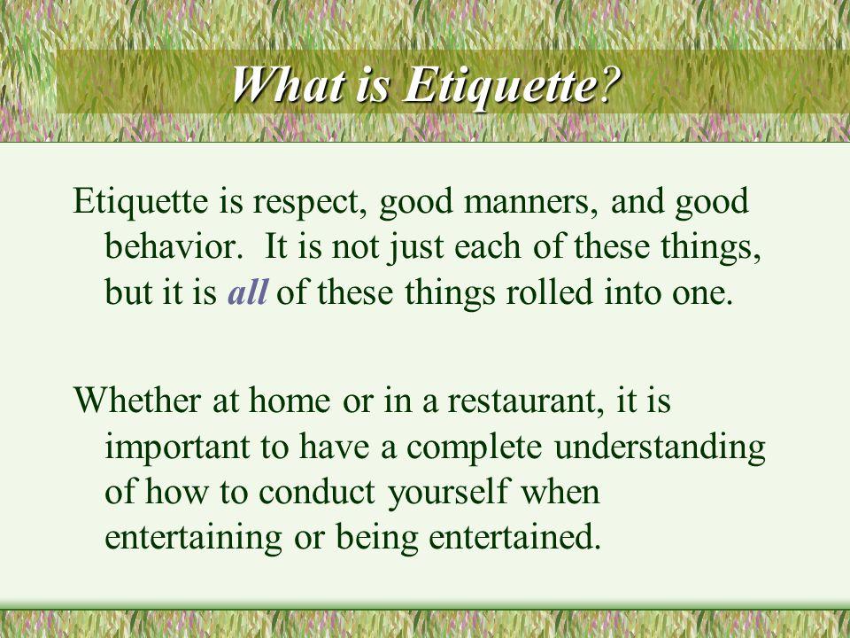 Proper Dining Etiquette Proper Dining Etiquette Facilitator: Joyce Thomas