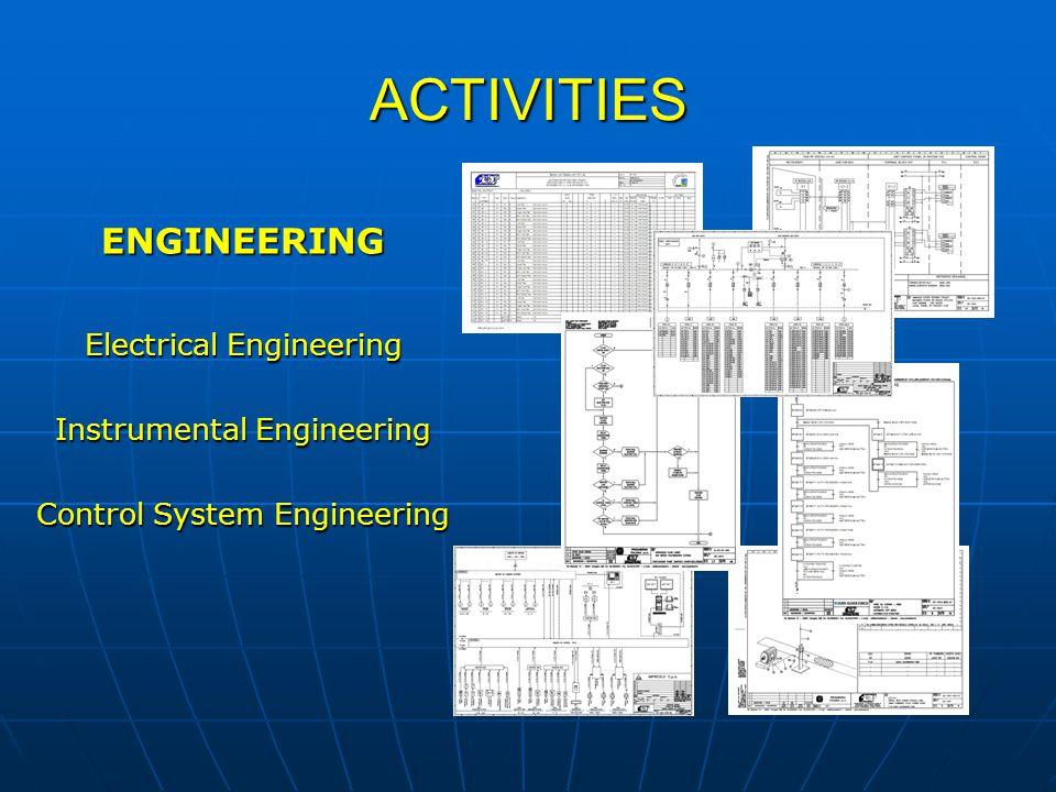 ACTIVITIES ENGINEERING Electrical Engineering Instrumental Engineering Control System Engineering