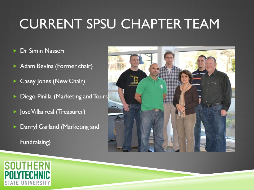 SPSU SME CHAPTER: WINNER OF THE EDUCATION FOUNDATION GRANT, 2008