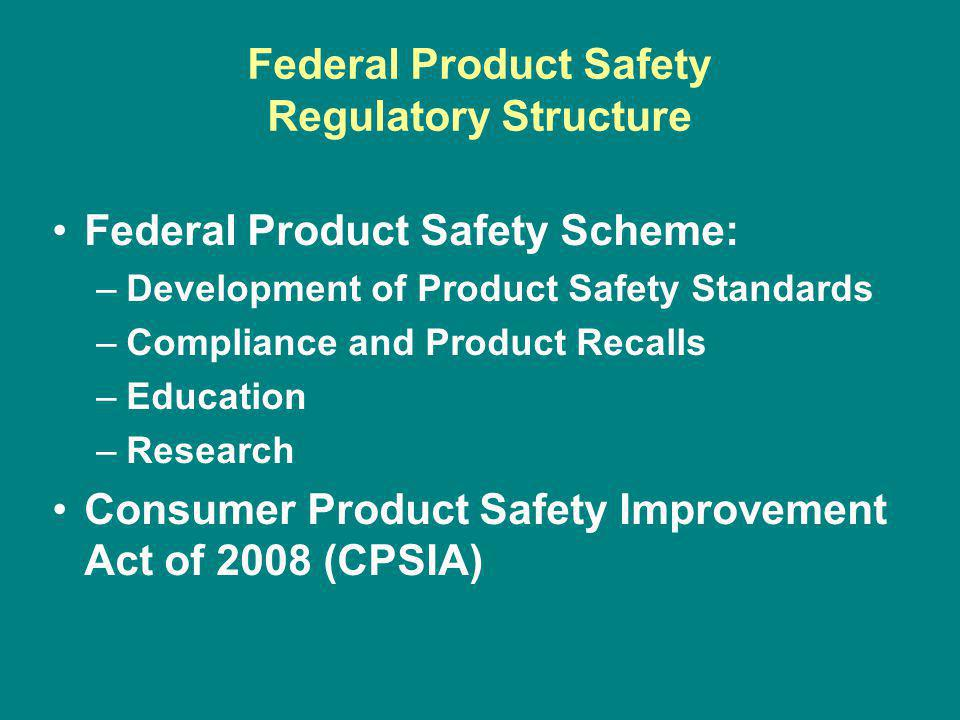 AG Substantial Product Hazard Procedure Identify product with substantial product hazard Determine if immediate action is necessary to protect residents of the state Provide notice to CPSC File complaint in U.S.