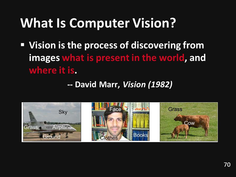 70 What Is Computer Vision.