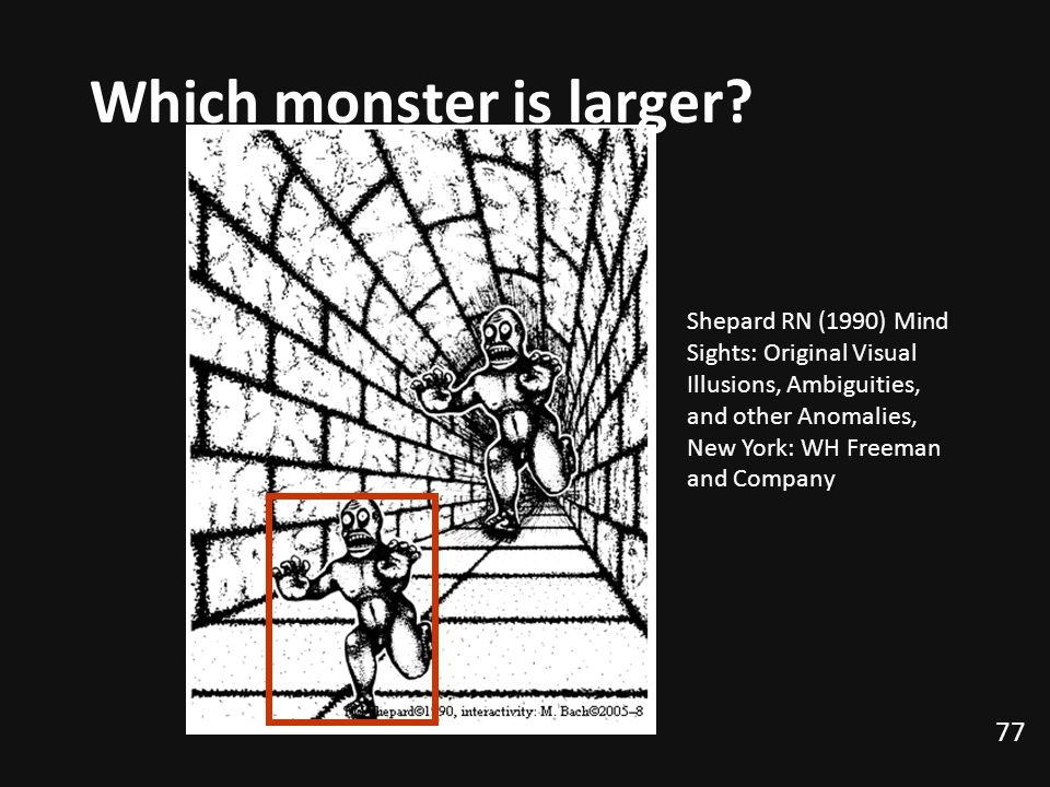 77 Which monster is larger.