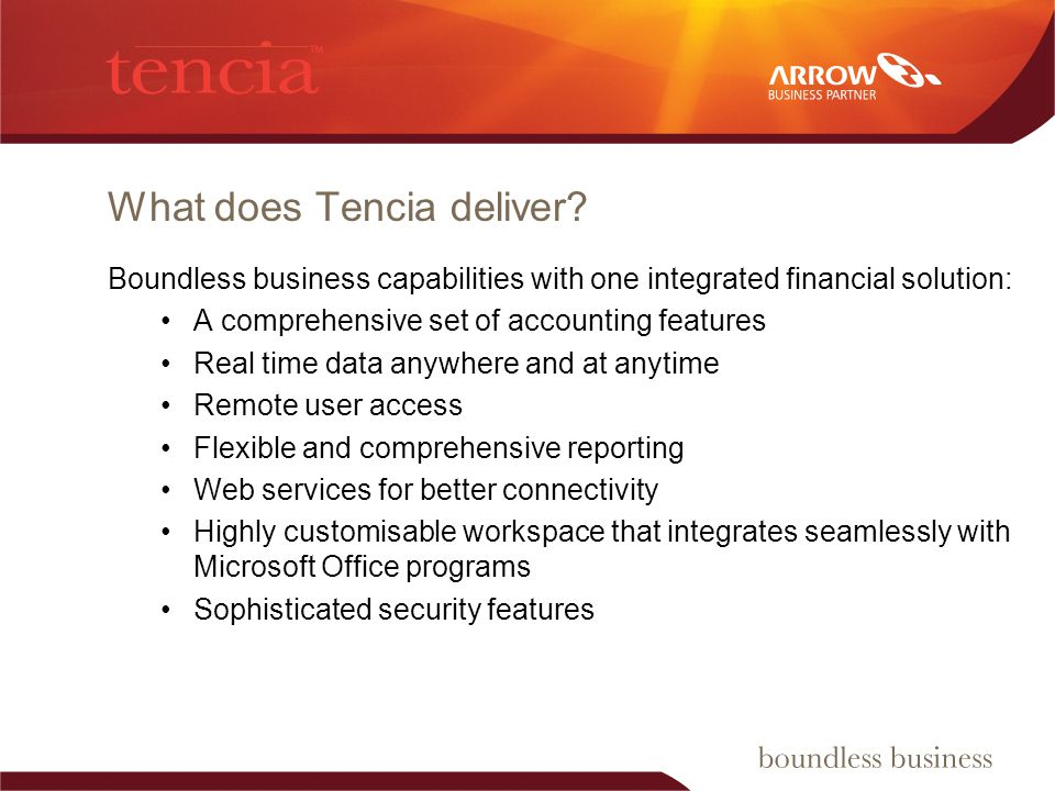 What does Tencia deliver.