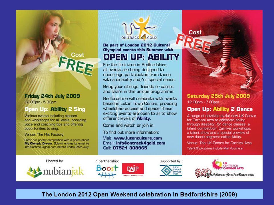 The London 2012 Open Weekend celebration in Bedfordshire (2009)