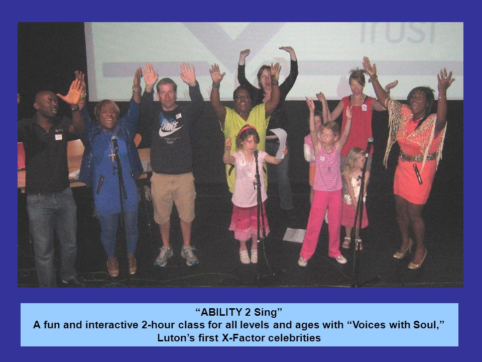 The Ability Dance A big thank you the production team, hosts, management and volunteers