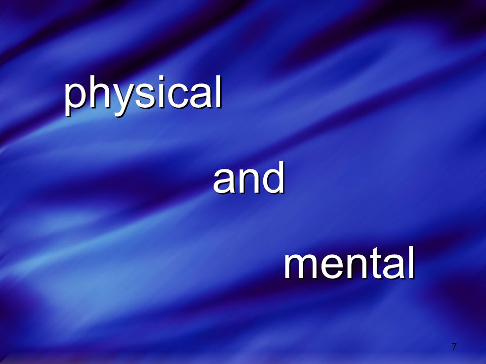 7 physical and mental physical and mental