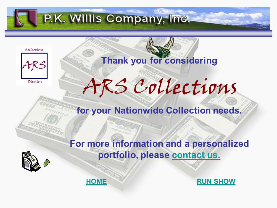 ARS Collections Thank you for considering for your Nationwide Collection needs.