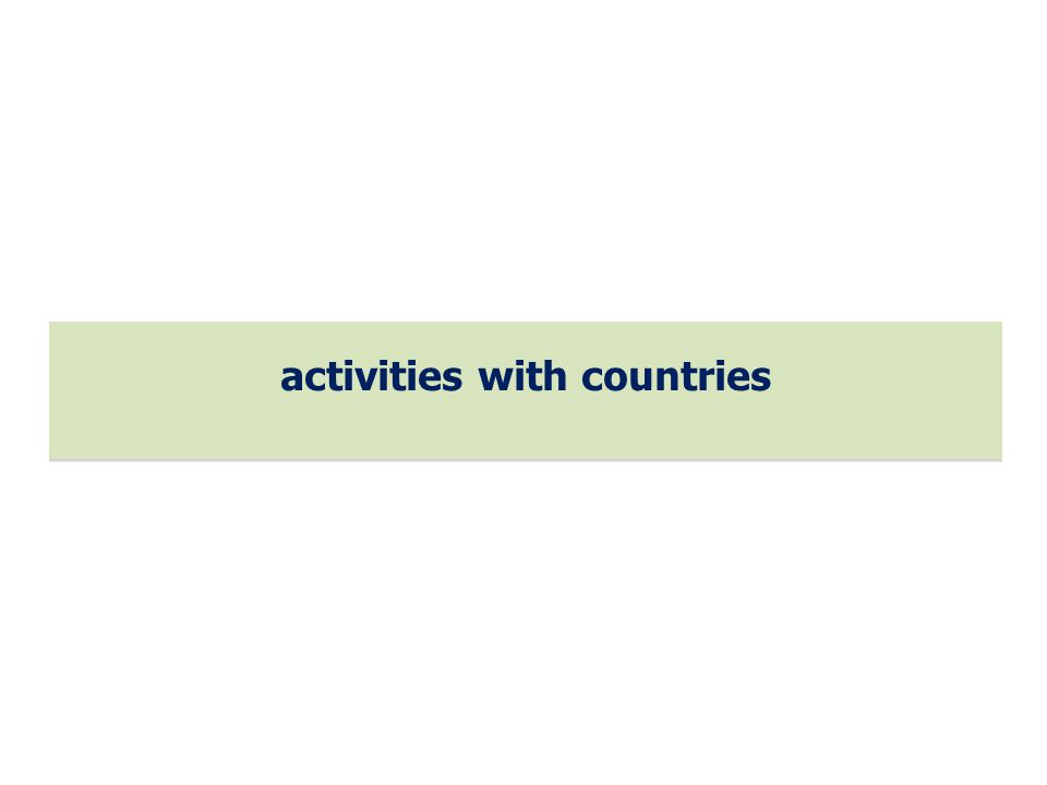 activities with countries