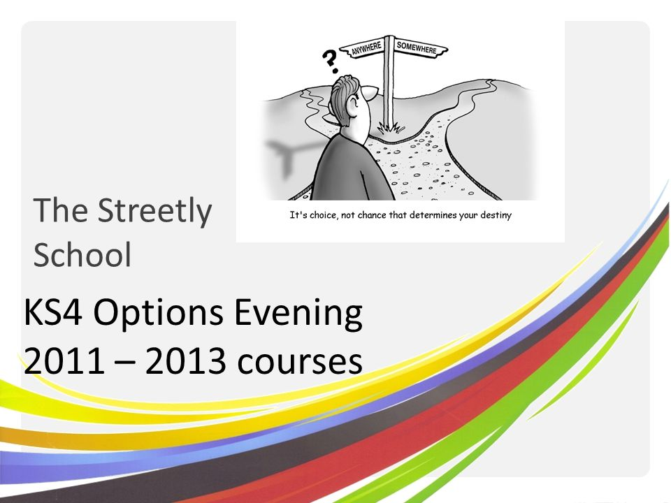 The Streetly School KS4 Options Evening 2011 – 2013 courses